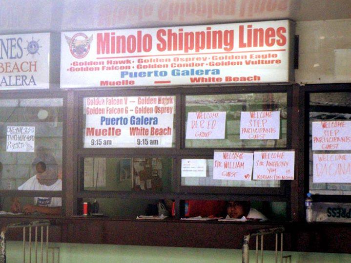 ミノロ・シッピング・ライン(Minolo Shipping Lines)のチケットカウンター
