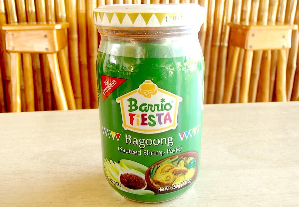 こちらは「Barrio Fiesta Bagoong」という商品。ムリエ港を出て正面の「Park Way」というスーパーで75ペソで購入。他のスーパーや商店でも売られているかと思いますので探してみてください!