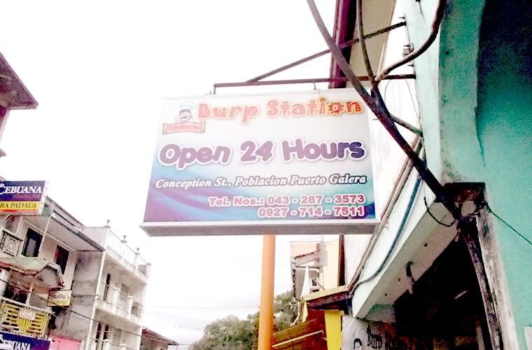 1度はトライしてみたいローカルレストラン。プエルトガレラ中心部のBurp Stationでフィリピンローカルフードを食べてみよう!