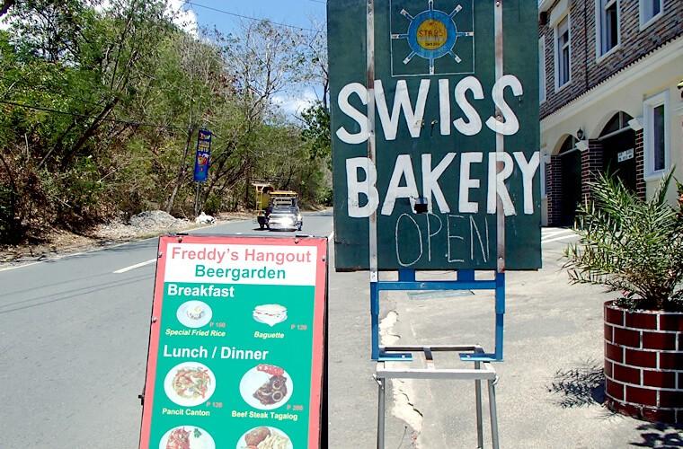 プエルトガレラの散歩がてら美味しいパン屋さんへ!スイスベーカリー SWISS BAKERYの行き方|サーモンにチーズやハムも!