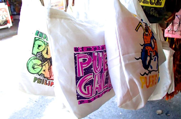 定番のおみやげシリーズ。トートバッグ|プエルトガレラにはこんなお土産があります!