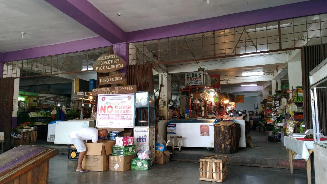 プエルトガレラの生鮮食品マーケット